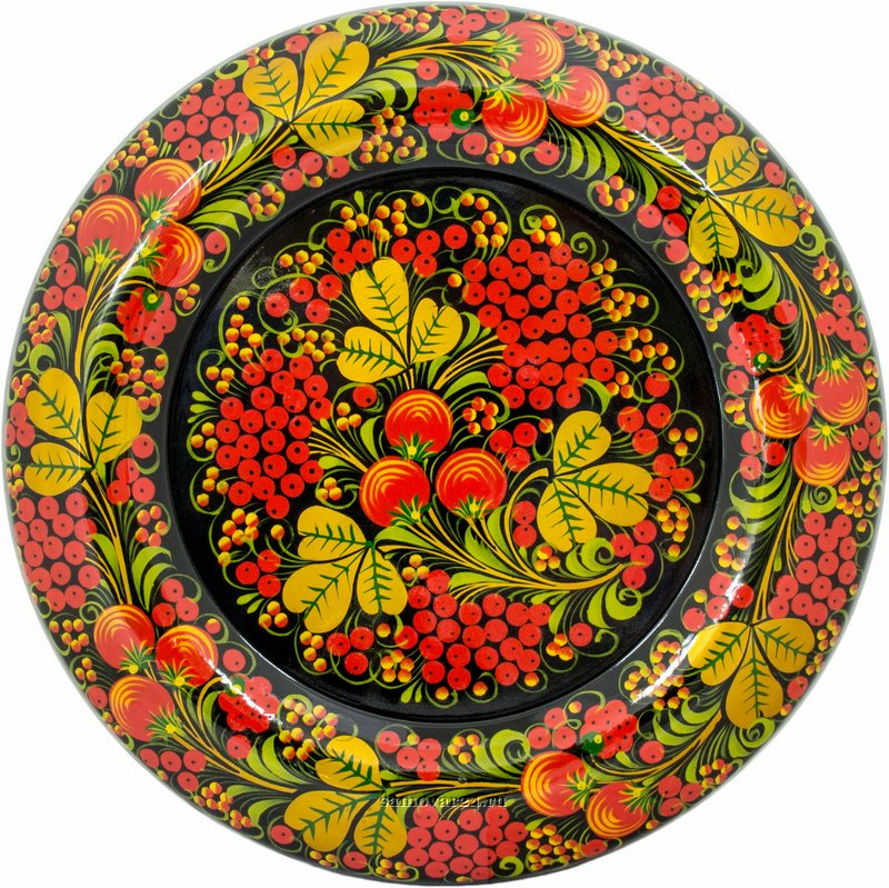Картинки посуды хохломской росписи